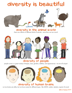 """diversity is beautiful"" cartoon w explanations"